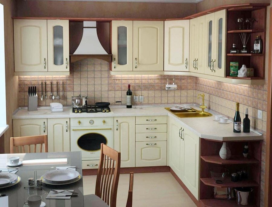 Квадратные кухни фото